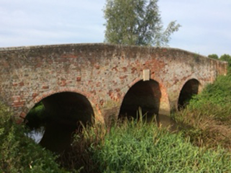 The bridge over the river by Whitesbridge Farm in Margaretting, Essex